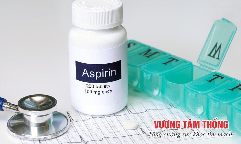 Thuốc ức chế tiểu cầu Aspirin thường được chỉ định trong điều trị thiếu máu cơ tim